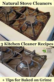 natural stove cleaners 3 kitchen