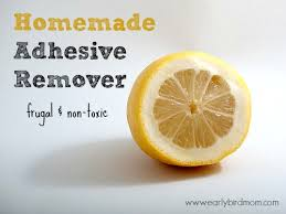 homemade adhesive remover frugal and