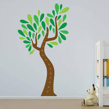 Amazon Com Child S Growth Chart Tree Vinyl Wall Art Home Kitchen