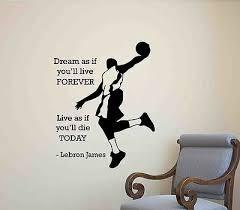 Lebron James Wall Decal Quote Poster Gift Vinyl Sticker Basketball Decor Art 658 Ebay