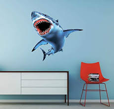 Amazon Com Shark Jaws Great White Wall Decal Wall Decoration Sticker Sports Outdoors
