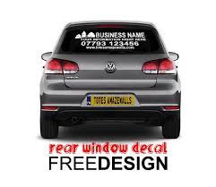 Rear Window Vehicle Decal Sticker Totesamazewalls