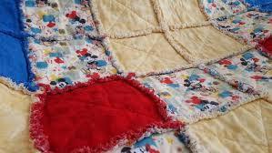 baby shower gift handmade quilt mickey