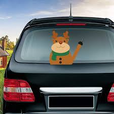 Amazon Com Miysneirn Rear Wiper Decal Christmas Smiling Christmas Elk Waving Wiper Arm Sticker 3d Funny Window Attaches To Rear Windshield Wiper Sticker Xmax Rear Wiper Vehicle Tags For Wiper Blade Decal Automotive