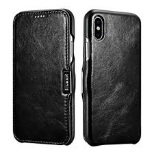 icarer iphone xs x leather case