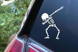 Dab Skeleton Dancing Decal For Your Car Laptop Vinyl Decal Etsy