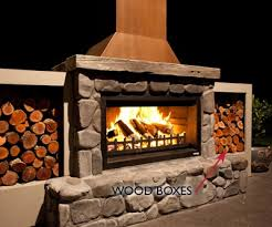 outdoor fires accessories wood boxes