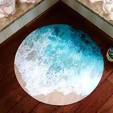 3d Ocean Scene Round Carpet Area Rugs Kids Room Bathing Rug Bedroom Mat Non Slip 60 60 80 80cm Computer Mat Mat Mat Kids Bath Matkids Round Rugs Aliexpress