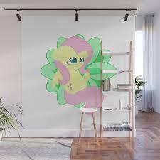 Chibi Fluttershy Wall Mural By Mayiamaru Society6