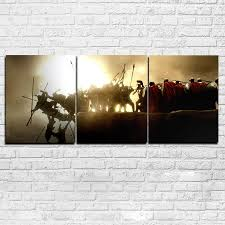 3 Piece 300 Spartan Painting Modular Movie Abstract Poster Wall Art Home Decor Canvas Pictures Hd Printed For Living Room Painting Calligraphy Aliexpress