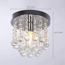Surpars House One Light Crystal Chandelier Small Style Kids Room Hallway Design 40 Watts E12
