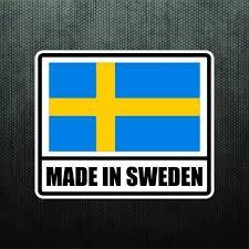 Made In Sweden Vinyl Bumper Sticker Decal Sport Car Swedish Flag Fits Volvo Saab Swedish Flag Vinyl Bumper Stickers Vinyl Decals