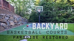 Backyard Basketball Courts Youtube