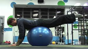 swiss ball back and hip extension you