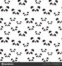 cute panda face seamless wallpaper