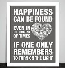 art print poster harry potter dumbledor happiness quote prisoner