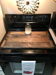 wood stove top cover serving tray