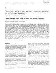 PDF) Waterpipe Smoking and Nicotine Exposure: A Review of the Current  Evidence