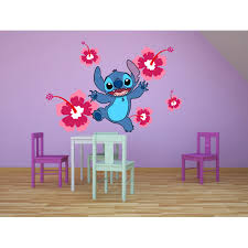Lilo And Stitch Disney Cartoon Character Wall Art Graphic Decal Sticker Vinyl Mural Baby Kids Room Bedroom Nursery Kindergarten School House Home Wall Art Design Removable Peel And Stick 10x8 Inch