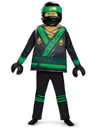 Lego Ninjago Movie Lloyd Boys Deluxe Green Energy Ninja Halloween ...