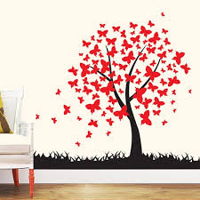 Butterfly Tree Wall Decal Stickers Vinyl Wall Art For Nursery Kids Room Baby Boys And Girls Bedroom Decoration Wallsymbol Com