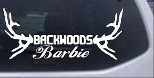 Backwoods Barbie With Antlers Car Or Truck Window Decal Sticker Rad Dezigns