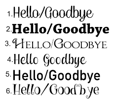 Hello Goodbye Vinyl Door Decals Sticker This Online Store Powered By Storenvy