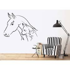 Vinyl Decal Animal Wall Sticker Horse Dog From Wallstickers4you