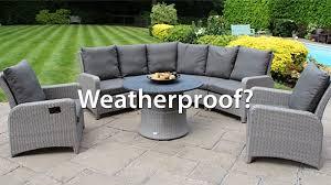 is all rattan furniture weatherproof