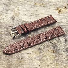 watch strap ostrich pattern black