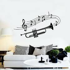 Trumpet Musical Wall Stickers Nursery Kids Room Instrument Music Notes Vinyl Wall Decal Living Room Kitchen Decoration Wall Motifs Wall Mural Decal From Joystickers 10 85 Dhgate Com