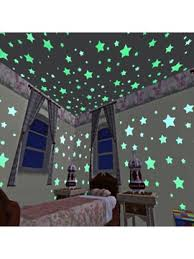 100pcs Luminous Baby Kids Bedroom Home Decor Color Stars Fluorescent Wall Stickers Decal Tidebuy Com
