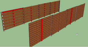 Horizontal Fence Design With 8 Apart Posts Which Design Is Better By Minime Lumberjocks Com Woodworking Community