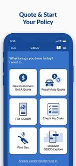 geico mobile car insurance on the app