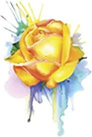 Amazon Com Yellow Rose Roses Vinyl Decal Car Truck Bumper Window Sticker Automotive