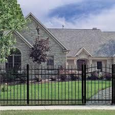 Tuffbilt Cascade Standard Duty 5 Ft H X 6 Ft W Black Aluminum Pre Assembled Fence Panel 73008702 The Home Depot