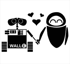 Wall E And Eve Vinyl Sticker Etsy
