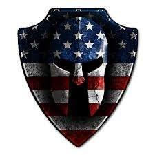 American Spartan Helmet Decal American Strong