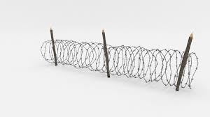 Barbed Wire Fence Obstacle 3d Computer Graphics Barbwire Transparent Png