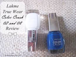 lakme true wear color crush 02 and 08