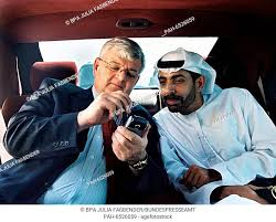 German foreign minister Joschka Fischer talks to Abdullah Rashid Al Nuaimi  about the functions of..., Stock Photo, Picture And Rights Managed Image.  Pic. PAH-6526059 | agefotostock