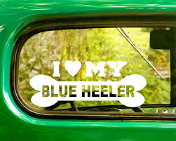 2 I Love My Blue Heeler Dog Breed Decal Stickers The Sticker And Decal Mafia