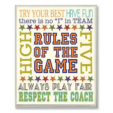 Stupell Industries The Kids Room Rules Of The Game Textual Art Wall Plaque Walmart Com Walmart Com