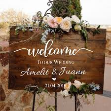 Wedding Ceremony Welcome Sign Wall Sticker Custom Bride Groom Names Vinyl Decal Wedding Board Mirror Murals Decoration Az841 Leather Bag