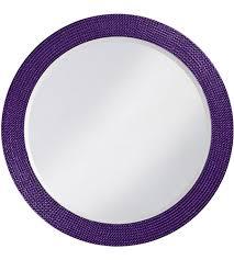 21 inch glossy royal purple wall mirror