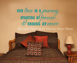 Our Love Is A Journey Wall Decal Vinyl Sticker Art Quotes Wall Letters For Bedroom Decor