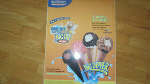 Big Dipper Cone Vinyl Decal Sticker Ice Cream Truck Water Ice Van Blue Bunny 1 Ebay