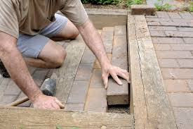 patio with pavers involves digging
