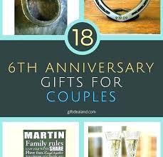 6th wedding anniversary gifts uk