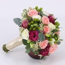 mix flower bridal bouquet
